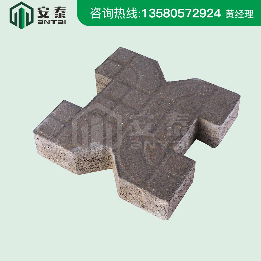 灰色背心型植草磚300×300×80mm